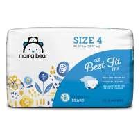 Amazon Brand - Mama Bear Best Fit Diapers Size 4, 36 Count, Bears Print [Packaging May Vary]