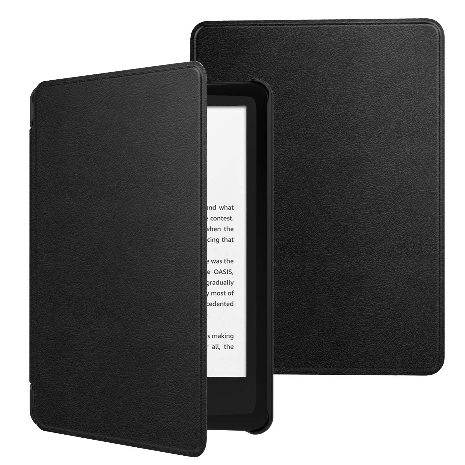 MoKo Case Fits All-New Kindle (10th Generation - 2019 Release Only), Ultra Lightweight Shell Cover with Auto Wake/Sleep, Will Not Fit Kindle Paperwhite 10th Generation 2018 - Black