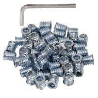 5/16-18 Threaded Inserts for Wood 15mm Length Furniture Screw in Threaded Insert Nuts 40 Pieces