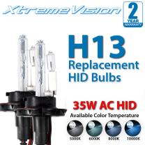 Xtremevision AC HID Xenon Replacement Bulbs - H13 / 9008 5000K - Bright White (1 Pair) - 2 Year Warranty