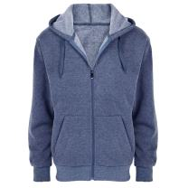 Hoodies for Men Zip Up Fleece Lined Cotton Plaid Athletic Sports Hooded Sweatshirts