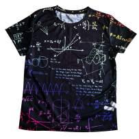 Losturban Big Boys' & Girls' 3D Print Short Sleeve T-Shirt Graphic School Tees