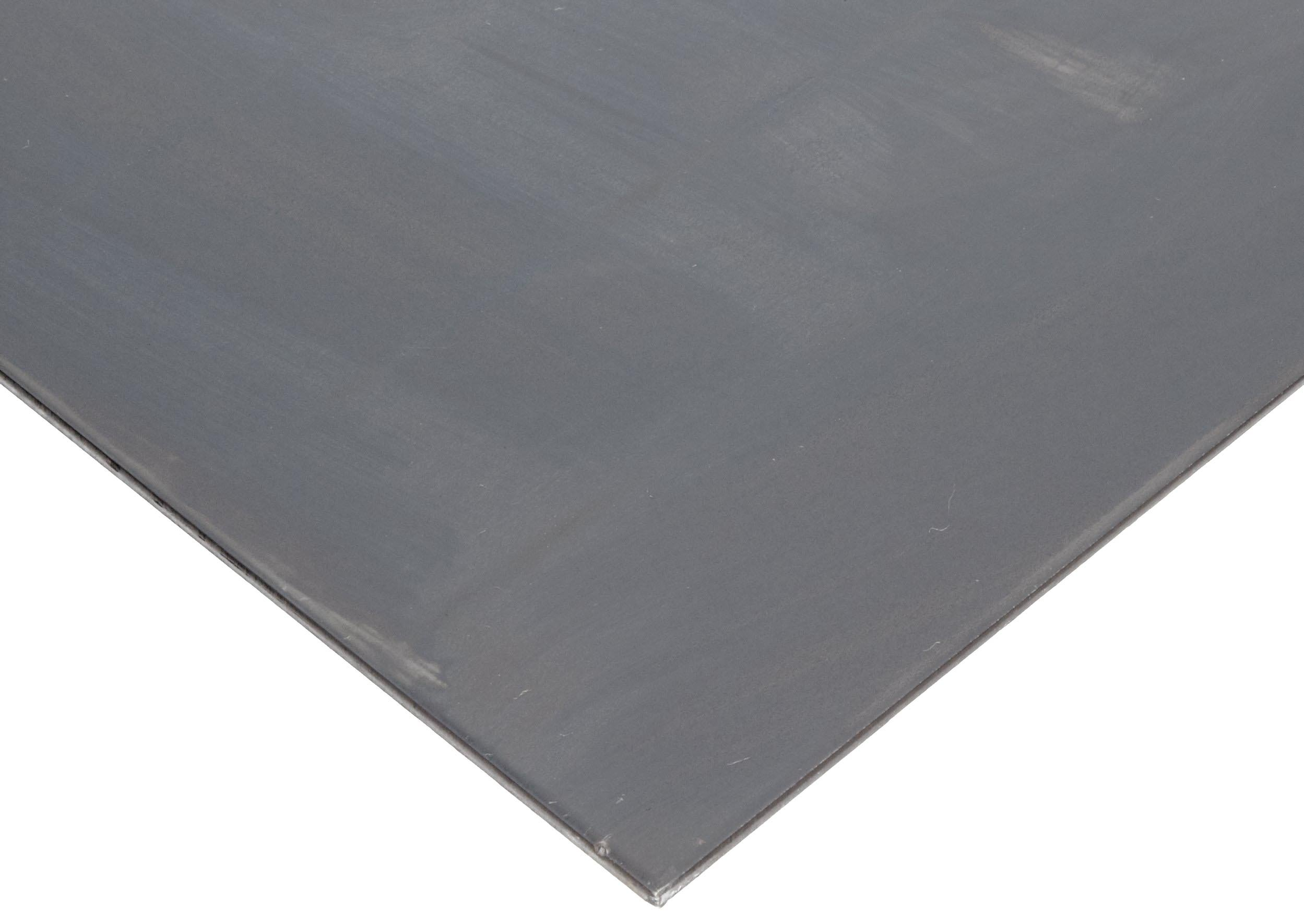 """A36 Steel Sheet, Unpolished (Mill) Finish, Hot Rolled, ASTM A36, 0.06"""" Thickness, 24"""" Width, 36"""" Length, 16 Gauge"""