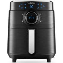 Ultrean 6 Quart Air Fryer, Deluxe Temperature and Time Knob and Matte Finish Design, Electric Hot Air Fryers Oven Cooker, Non-Stick Basket and Bonus Cook Book, 1700w