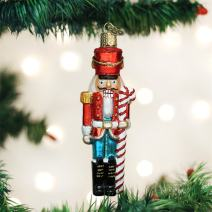 Old World Christmas Candy Glass Blown Ornaments for Christmas Tree Peppermint Nutcracker