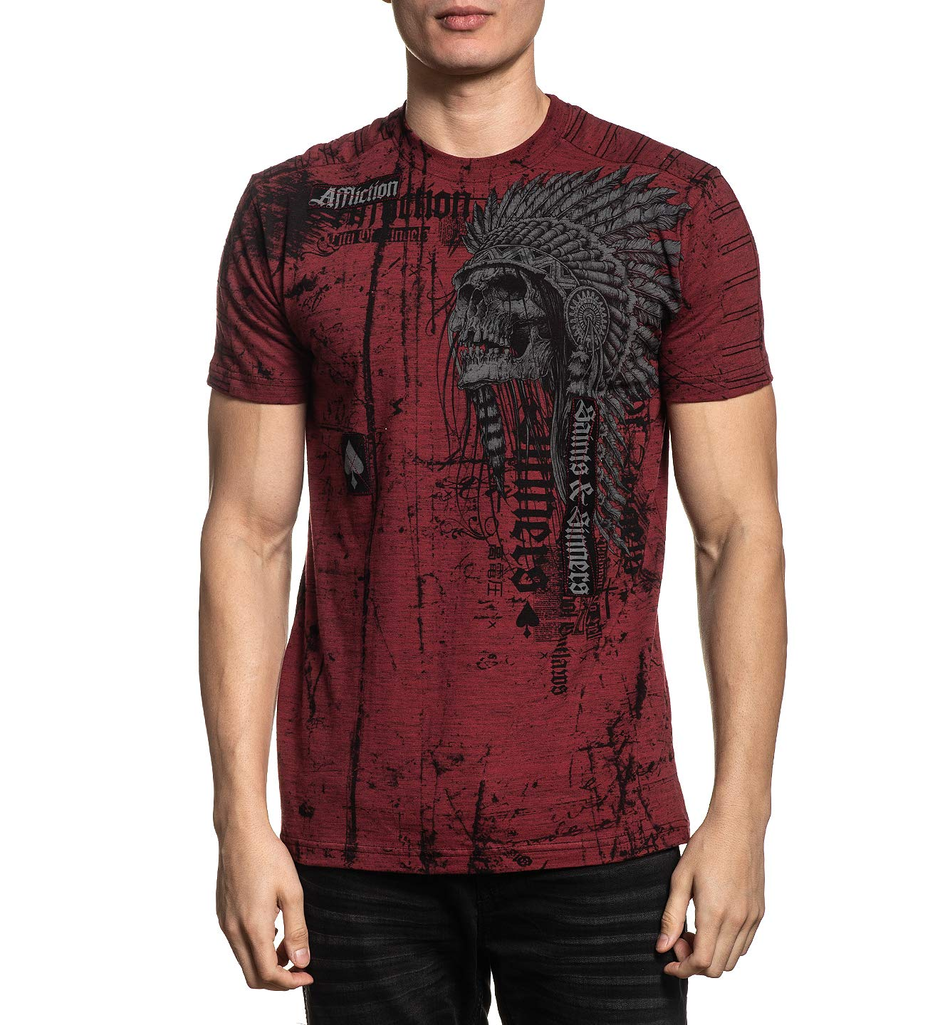 Affliction Men's Graphic T-Shirt, Renegade Variant, Short Sleeve Crew Neck Shirt