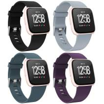Recoppa Compatible with Fitbit Versa 2 Bands for Women Men, Waterproof Sport Strap Band Compatible for Fitbit Versa/Versa Lite Smartwatch
