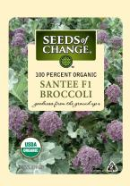 Seeds of Change 05925 Certified Organic Seed, Santee F1 Broccoli