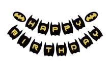 Bat Man Happy Birthday Banner, Bat Man Bday Party Sign, Superhero Theme Party Decoration