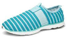 Wonvatu Women Men Unisex Slip On Barefoot Quick-Dry Water Shoes with Elastic Mesh Blue