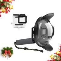 """Mojosketch 6"""" Underwater Gopro Dome Port Waterproof Housing Cover Case Built-in 10X Magnifier and Red Filter for GoPro HERO7 Black/Hero 6/Hero 5 / Hero(2018) Trigger Design Diving Scuba Accessories"""