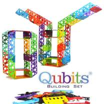 Qubits STEM Construction Set - 42 Pieces: an Open Play Engineering and Building Toy for Kids Ages 4 and Up