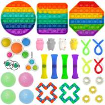 AOVRO Fidget Toys Sensory Small Toy Set, 29pcs Anti-Anxiety Toys with Decompression Gadgets Set, Sensory Stress Relief Toy Set for ADHD Autism, hyperactivity and Stress Anxiety