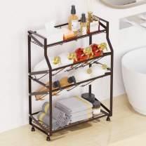 Bathroom Countertop Organizer, GSlife 4 Tier Spice Rack, Multifunctional Kitchen & Bathroom Free Standing Storage Shelf, Seasoning & Condiment Holder, Perfect for Counter, Pantry & Cabinet, Deep Brown