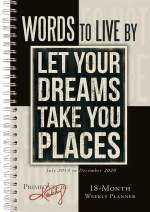 """Words to Live by 2020 Weekly Planner 18-Month - Daily Monthly Planner: July 2019 - December 2020 Primitives by Kathy, 6"""" x 9"""""""