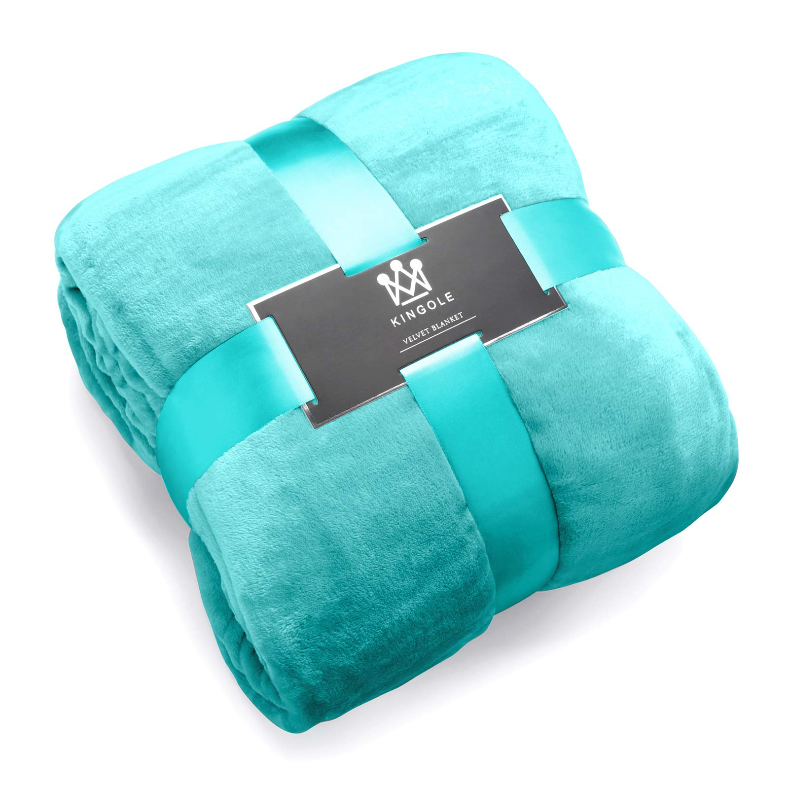 Kingole Flannel Fleece Microfiber Throw Blanket, Luxury Teal Queen Size Lightweight Cozy Couch Bed Super Soft and Warm Plush Solid Color 350GSM (90 x 90 inches)