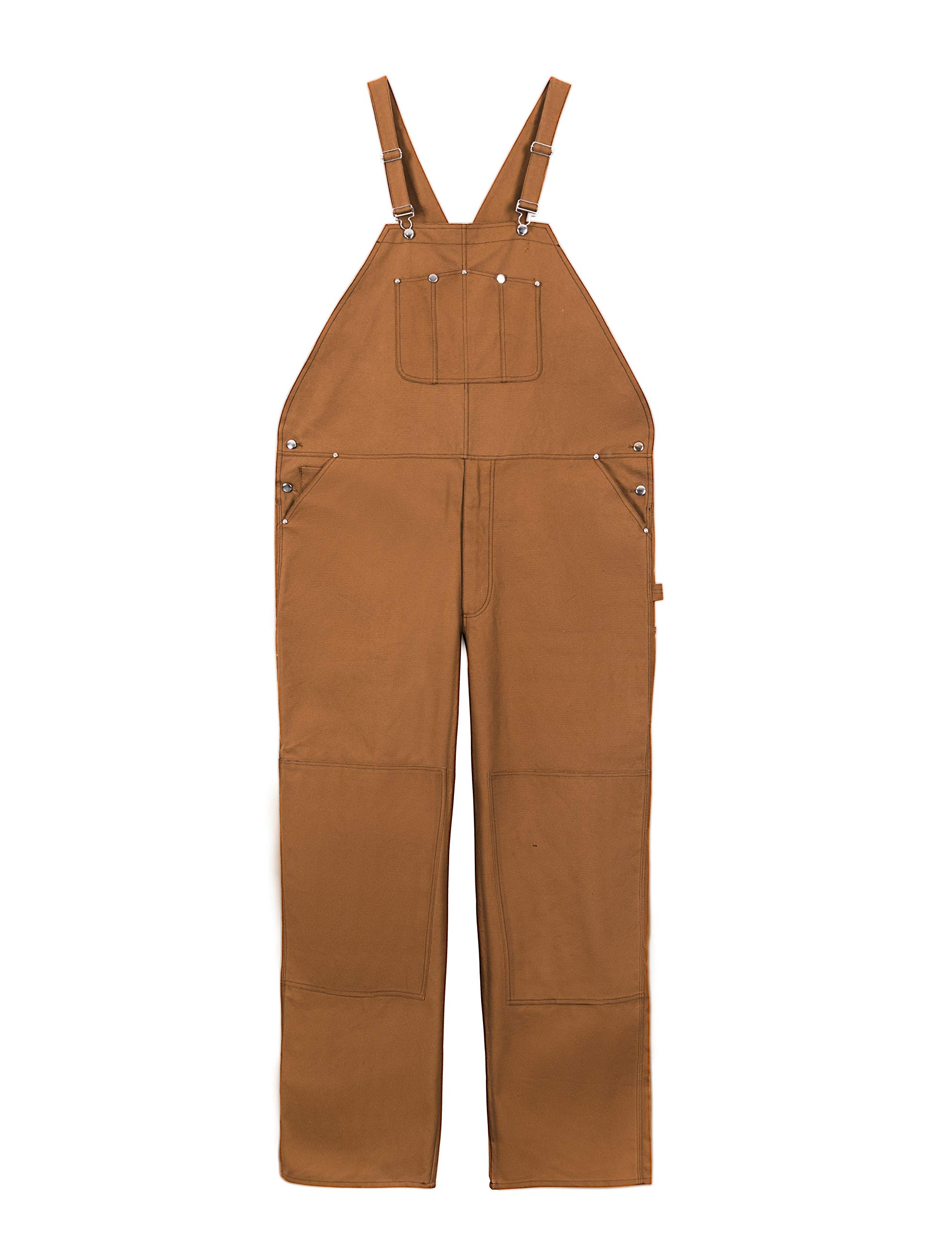 Men's Duck Bib Unlined Overall,Durable Work Pants