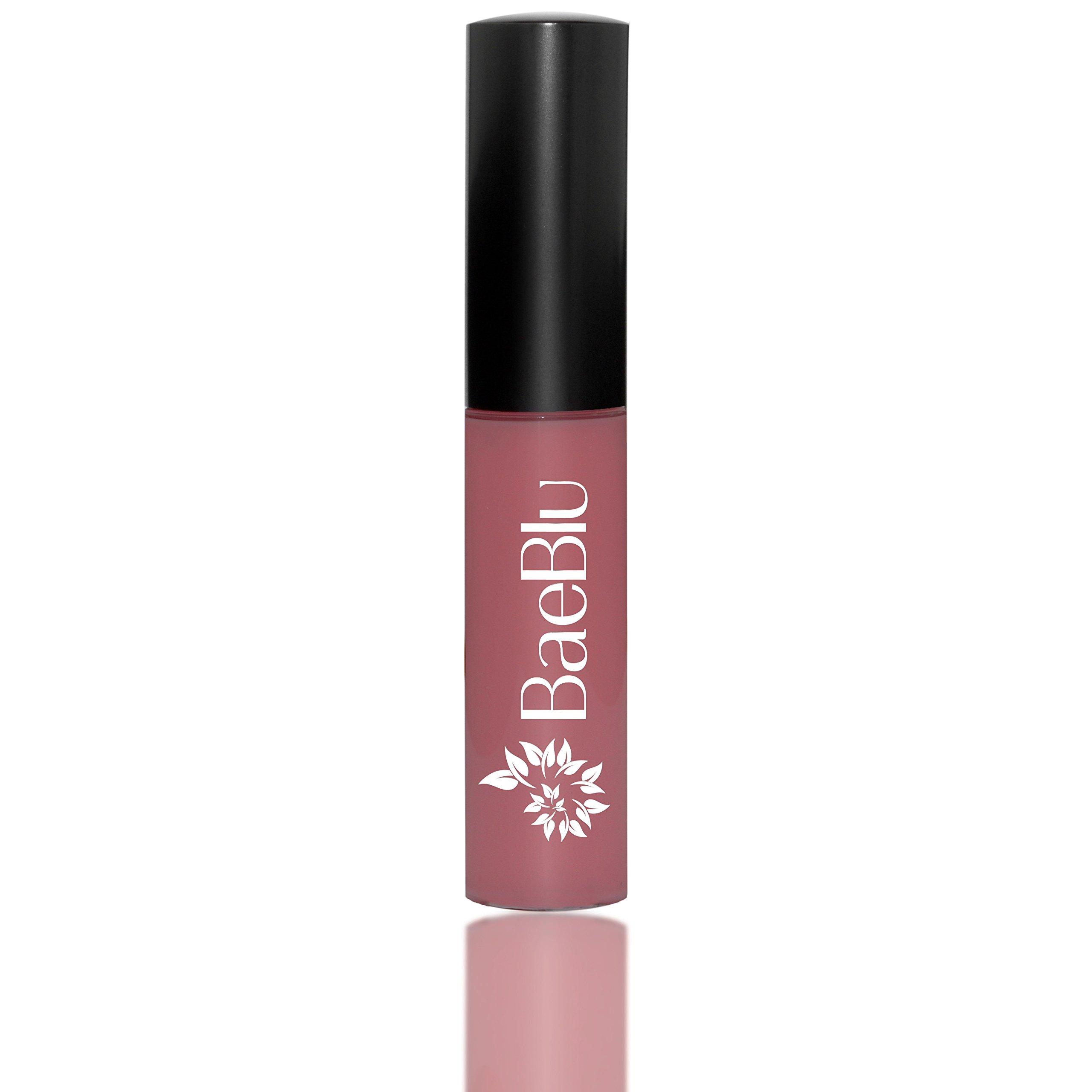 BaeBlu Organic Vegan Lip Gloss, 100% Natural Non-Toxic Moisturizing Ingredients, No Way Rose