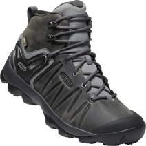 KEEN - Men's Venture Mid Leather Waterproof Hiking Boot, Steel Grey/Magnet,