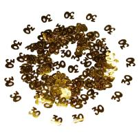 NiuZaiz Happy Birthday Confetti 50g 2000 Pieces Gold Number Ligits 30 Happy Birthday Words Letters Confetti for Birthday Party and Special Events Table Scatters Decorations (Gold 30)