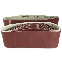 uxcell 4-Inch x 24-Inch Aluminum Oxide Sanding Belt 120 Grits Sandpaper Lapped Joint for Belt Sander 10pcs