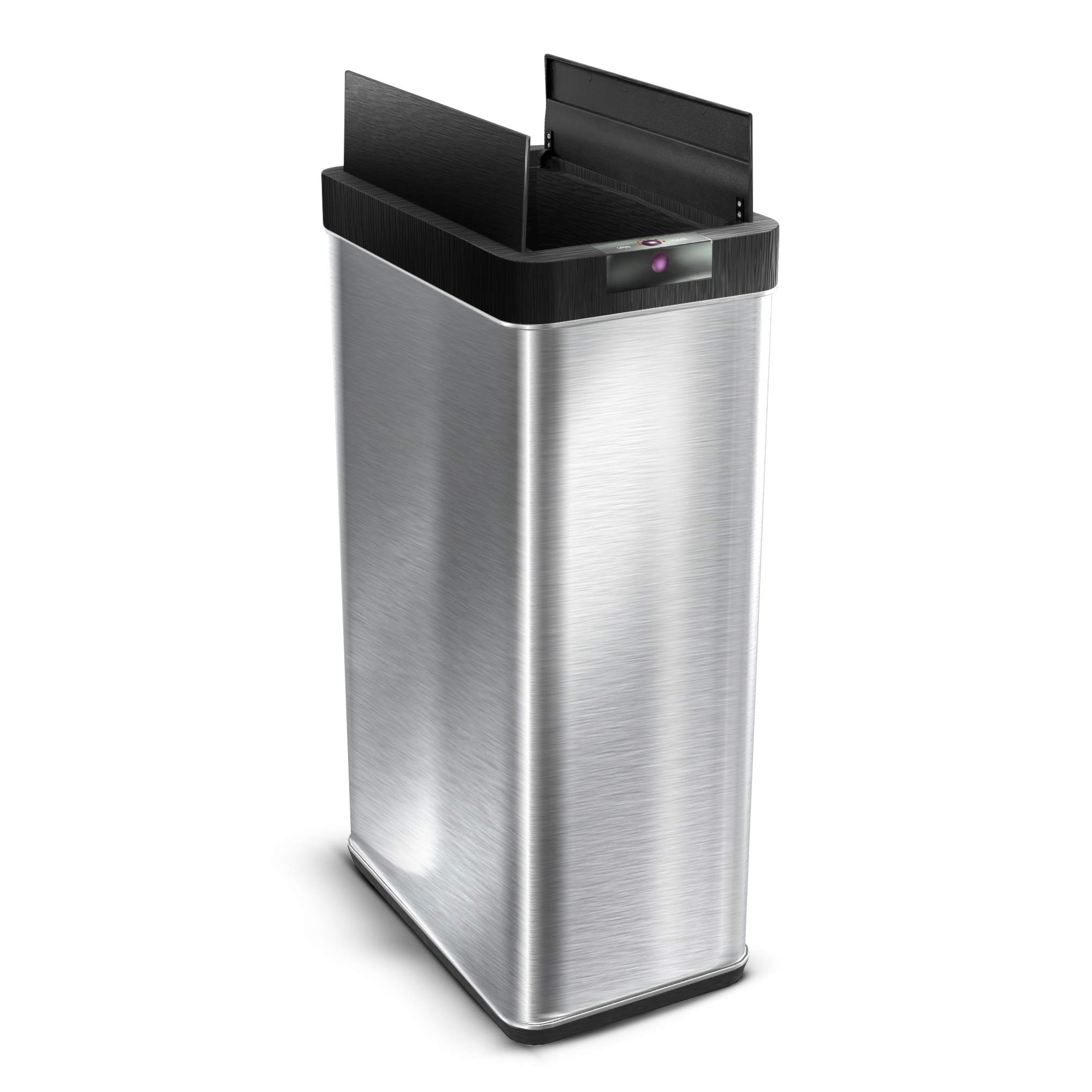 Home Zone Living VA41838A 68 Liter / 18 Gallon Stainless Steel Sensor Trash Can, Touchless Automatic Opening Lid, 68L Bin, Silver