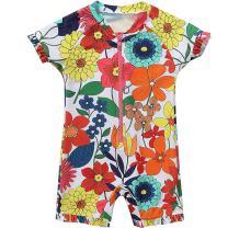 ATTRACO Baby Beach One-Piece Swimsuit Toddler Rash Guard Boy Girl UPF 50+ Sunsuit
