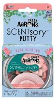 """Crazy Aaron's Thinking Putty 2.75"""" Tin – Rose Scented Putty – SCENTsory """"Grateful Heart"""" – Soft Texture, Never Dries Out"""