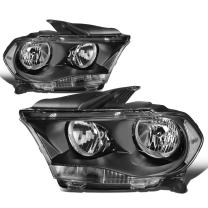 Replacement for Durango Pair Black Housing Clear Side Headlight/Lamps Left+Right