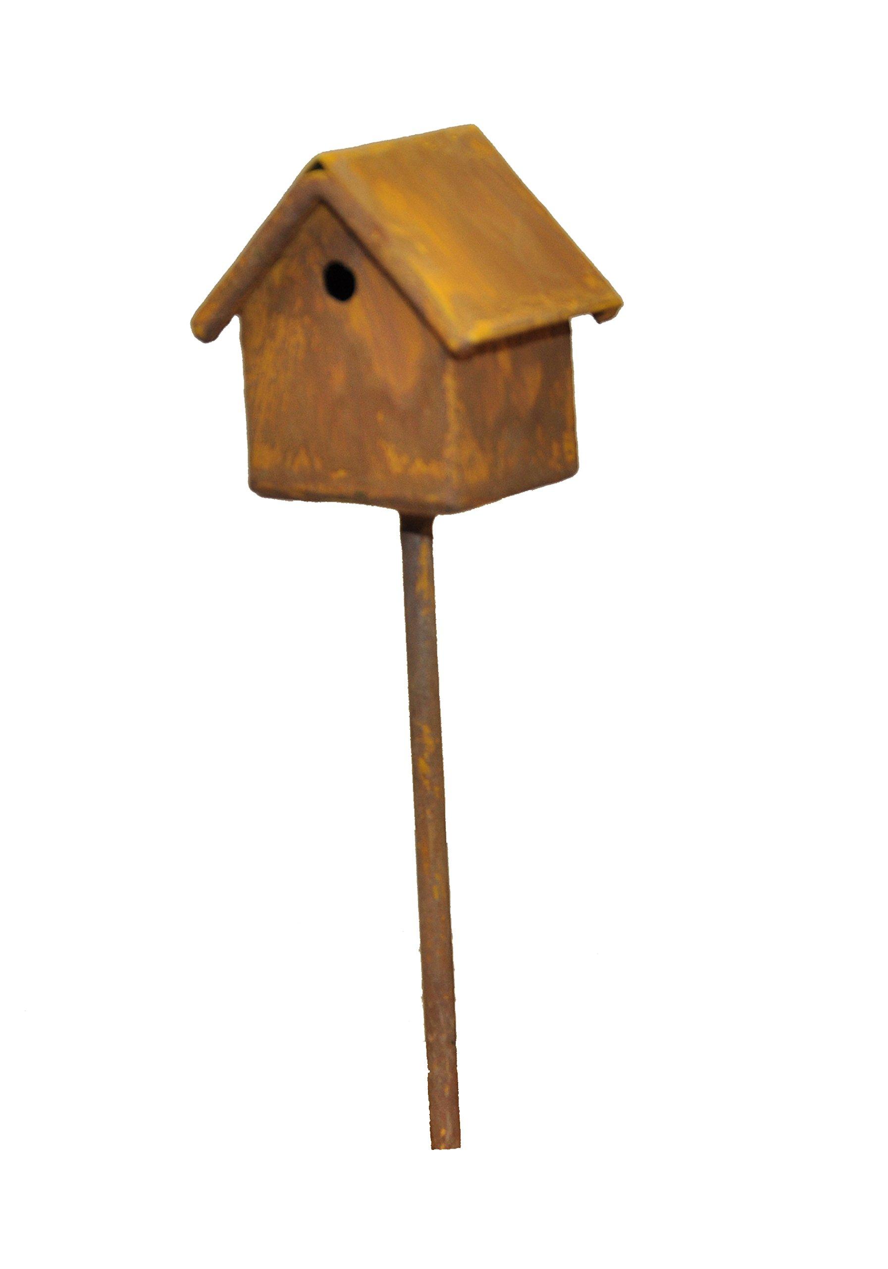 G & F MiniGardenn 10020 Fairy Garden Miniature Bird House Pick