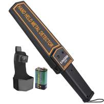 UNIROI Hand Held Metal Detector Wand Security Scanner with 9V Battery, Belt Holster, Adjustable Sensitivity, Sound & Vibration Modes