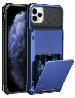 ELOVEN Case for iPhone 11 Pro Max Case Wallet with Card Holder Card Slot Hidden Credit Card ID Shock Absorption Heavy Duty Drop Protection Bumper Protective Cover for iPhone 11 Pro Max, Navy Blue