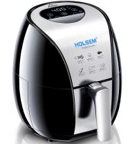 HOLSEM Digital Air Fryer with Rapid Air Circulation System, 3.4 QT Capacity, 1500W (LED Display) - Black/Stainless Steel