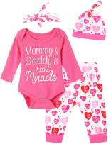 Mutiggee Toddler My 1st Valentine's Day 2020 Outfit Baby Girls Plaid Skirt Set