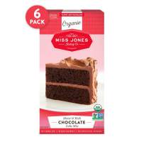 Miss Jones Baking Organic Cake and Cupcake Mix, Non-GMO, Vegan-Friendly, Moist and Fluffy: Chocolate (Pack of 6)