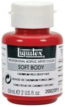 Liquitex Professional Soft Body Acrylic Paint 2-oz jar, Cadmium Red Deep Hue (2002311)