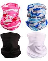 YEMO Unisex Sun UV Protection Cooling Face Scarf Cover Mask Neck Gaiter, Headband Fishing Mask, Reusable Breathable Bandana Balaclava, Motorcycle Face Cover for Men Women