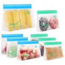 Reusable Storage Bags: Upgrade Stand Up Food Storage Bags, Lunch Bag, Snack Bag, Bpa Free Freezer Bag for Food Organization, 4 Large Reusable Storage Bags, 4 Medium Sandwich Bags