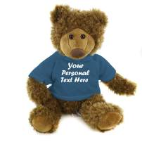 Plushland Adorable Frankie Bear 12 Inches, Stuffed Animal Personalized Gift - Great Present for Mothers Day Valentine Day Graduation Day Birthday Christmas - Custom Text on Hoodie  (Teal)