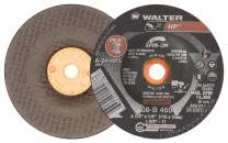 Walter 08B450 HP Grinding Wheel - [Pack of 20] A-24-HPS Grit, 4-1/2 in. Durable Abrasive Finishing Wheel with Arbor Hole Fastening. Abrasive Wheels