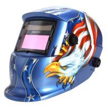 WOOKRAYS Welding Helmet Solar Auto-Darkening Welding Helmet Professional Hood MIG TIG ARC Welder Mask Blue Eagle