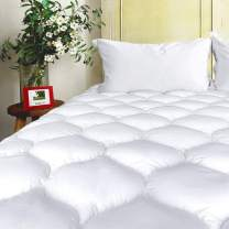 BEL TESORO Quilted Mattress Pad California King Size - Cooling Thick Deep Pocket - Pillowtop Mattress Topper Combed Cotton Filled Mattress Cover