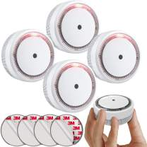SITERLINK Mini Small Smoke Detector 10 Year Battery Fire Alarm Photoelectric, Small Smoke Alarm with Test&Silence Button for Home, UL Listed, GS522C-A, 4 Packs