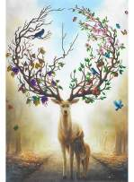 Puzzles 1000 Piece for Adults Kids Deer Jigsaw Puzzle