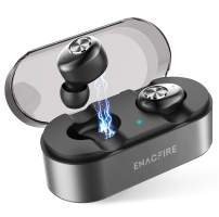 Wireless Earbuds, ENACFIRE E18 Plus Bluetooth Earbuds with Wireless Charging Case CVC8.0 3D Stereo Sound Deep Bass IPX7 Waterproof 8H Super-Long Battery Duration