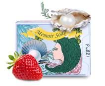 Memoir Natural Whitening Cleanser Soap for Sensitive Skin - Pearl, Strawberry, Hyaluronic Acid, Tomato & Cucumber Extract, Grapefruit & Lemon Oil - Natural Skin Lightening - 4.5oz