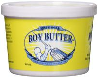 Boy Butter 16 Ounce Personal Lubricant | Natural Coconut Oil & Organic Silicone | Non Staining, Washable & Slick Lube for Adult Men, Women & Couples | Original Formula Oil Based Cream Made in The USA