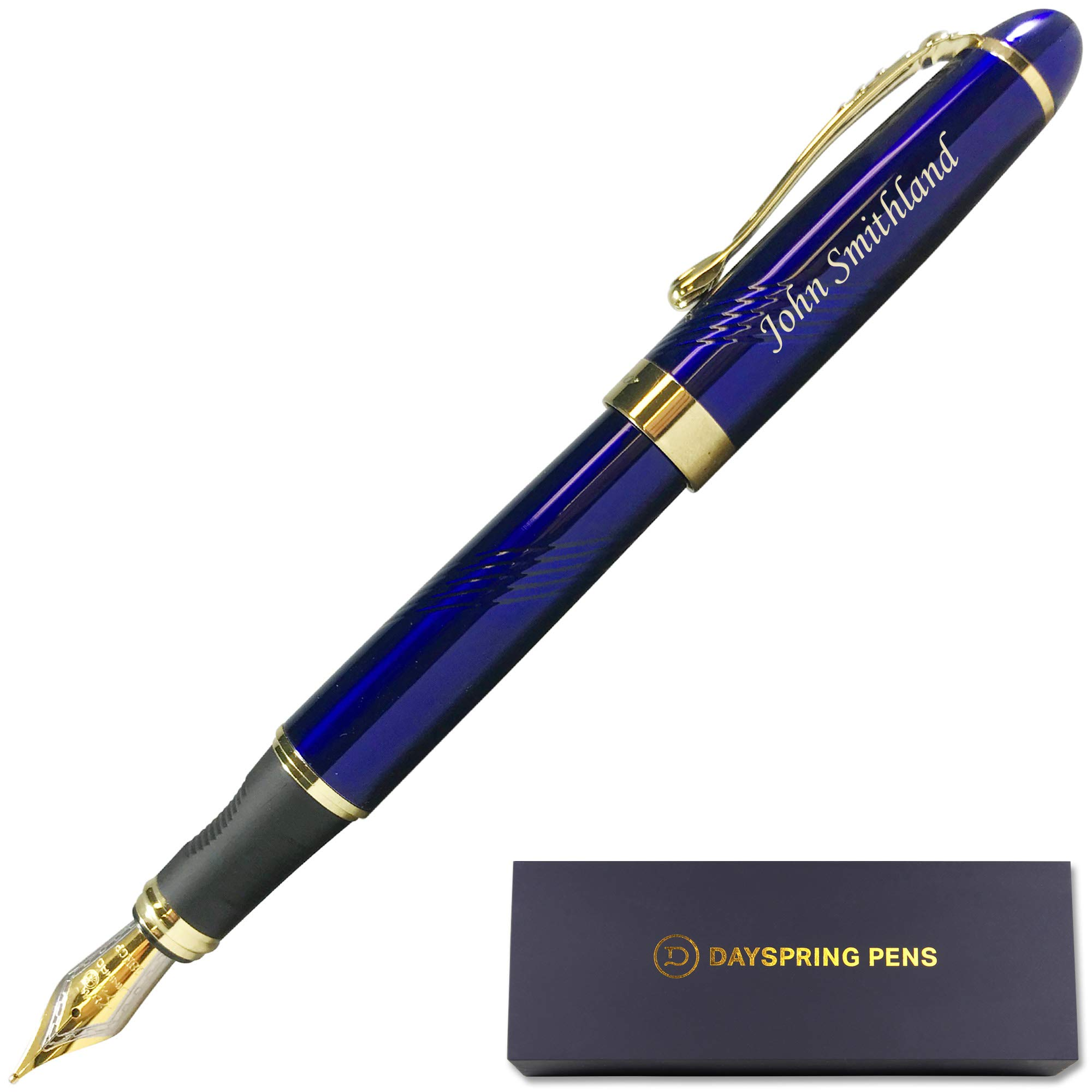 Dayspring Pens   Personalized Pen Arizona Fountain Ink Pen - Blue. Custom Engraved Fast