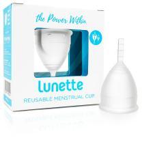Lunette Menstrual Cup - Clear - Reusable Model 1 Menstrual Cup for Light Flow