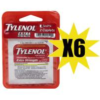 Uni's Tylenol Extra Strength 6 Count Multi-Symptom Relief (2 Caplets per Pack)